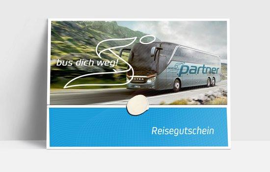 Bus dich weg! Partnergutschein € 50,00